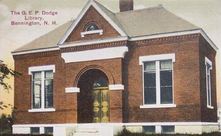 George Edward Payson Dodge Library, Bennington 1908 postcard