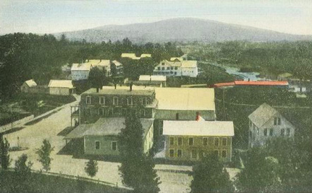 Bird's-eye view, Greenfield, NH, from a 1907 postcard.